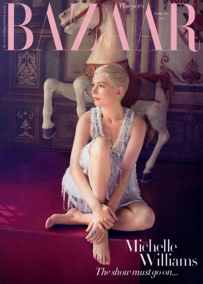 michelle williams harpers bazaar uk cover february 2018