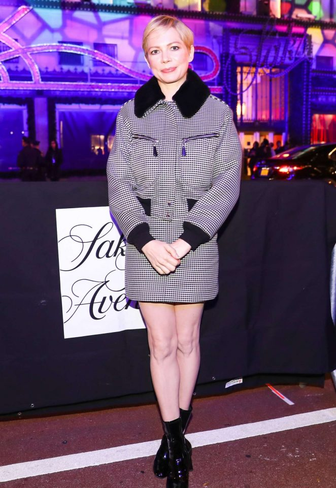 Michelle Williams - 'Theater of Dreams' holiday windows and light show in New York