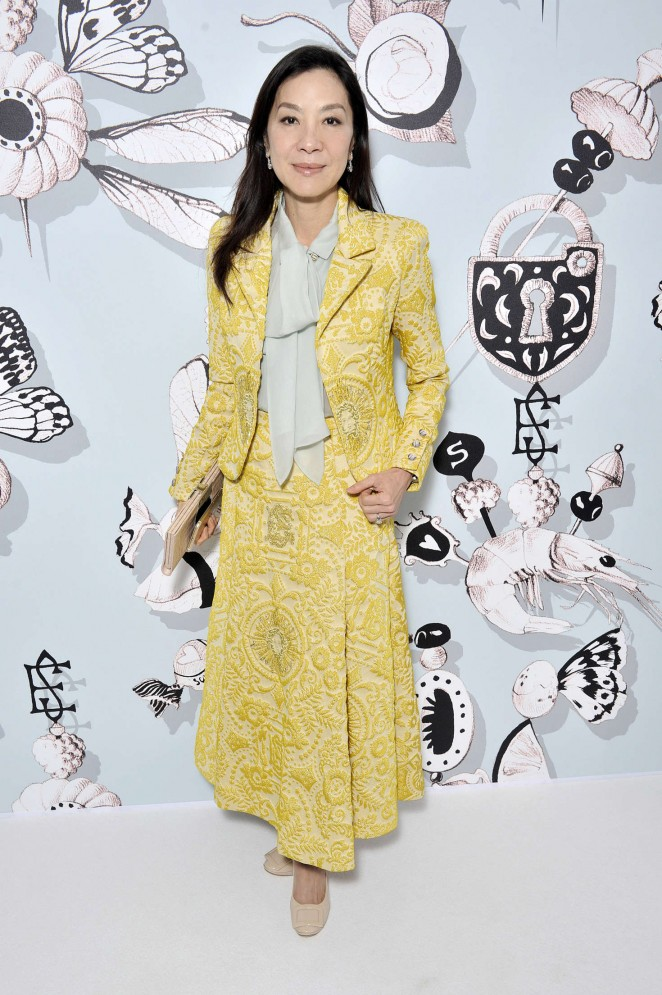 Michelle Yeoh - People at Haute Couture Fashion Show Schiaparelli SS 2016 in Paris
