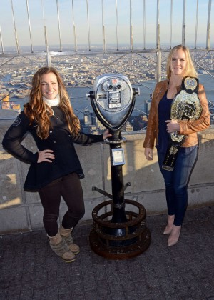 Miesha Tate and Holly Holm - Visit the Empire State Building in New York