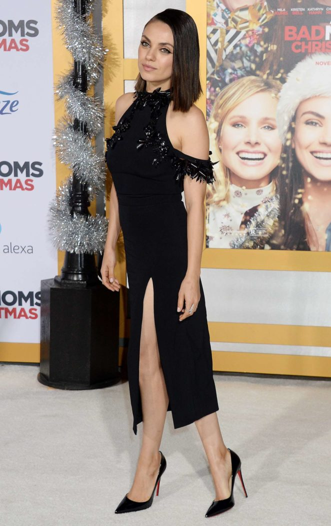 Bad Mom Christmas.Mila Kunis A Bad Mom S Christmas Premiere In Westwood