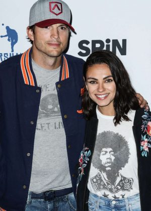 Mila Kunis and Ashton Kutcher - 6th Annual Ping Pong 4 Purpose in LA