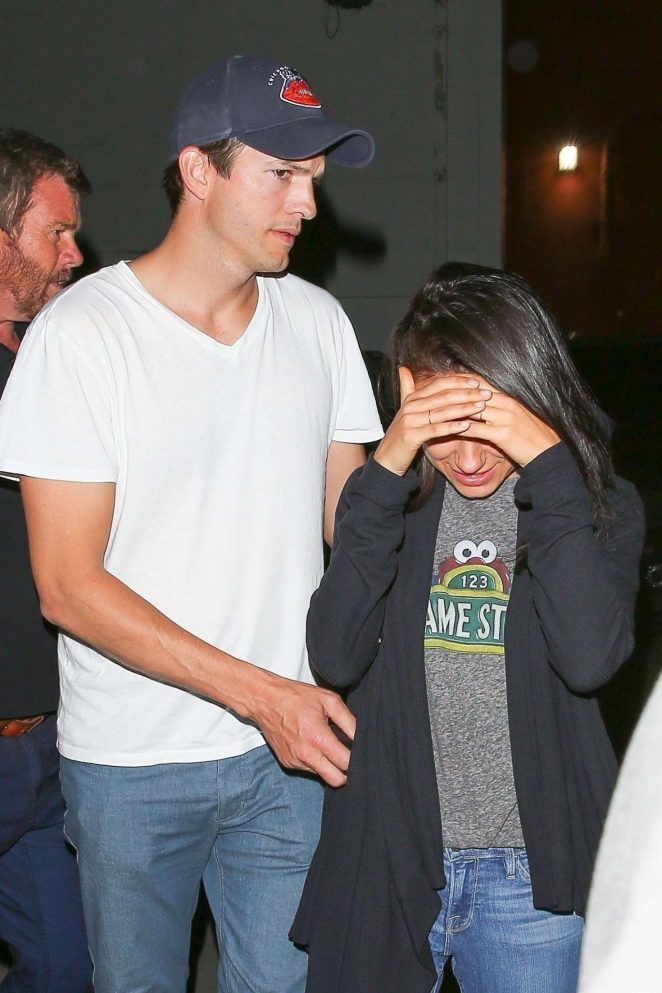 Mila Kunis and Ashton Kutcher at the Largo -02 | GotCeleb