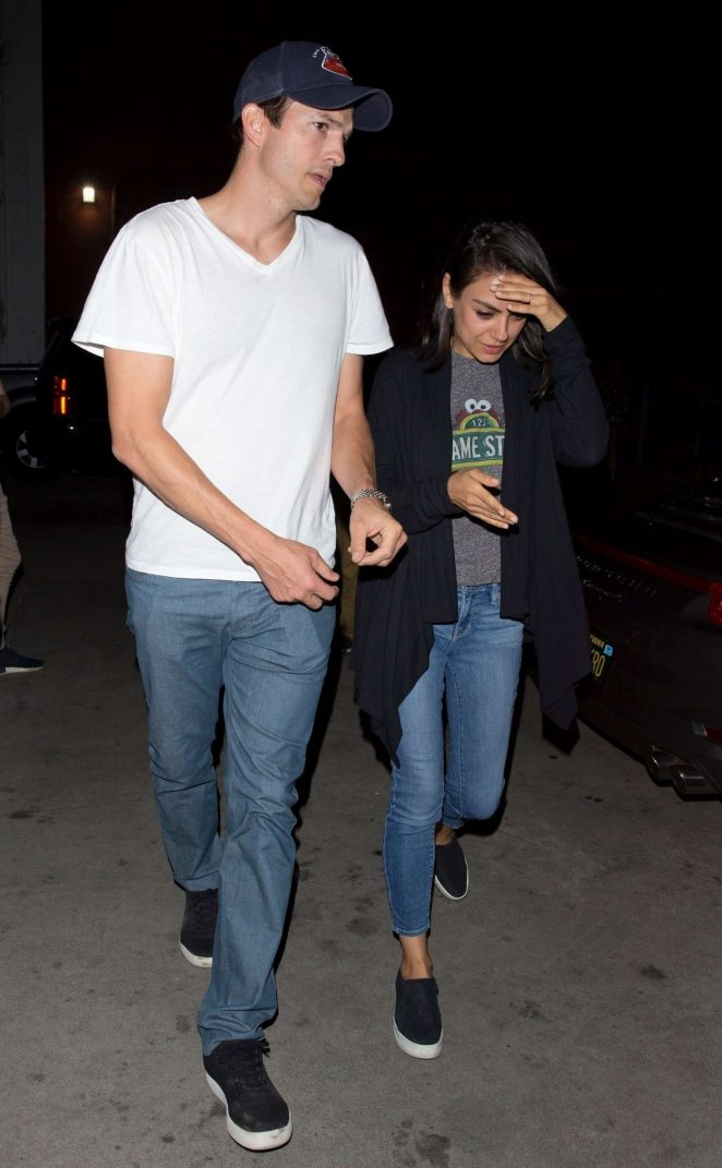 Mila Kunis and Ashton Kutcher at the Largo in West Hollywood