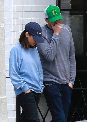 Mila Kunis and Ashton Kutcher - Leaves Joans On Third in Studio City