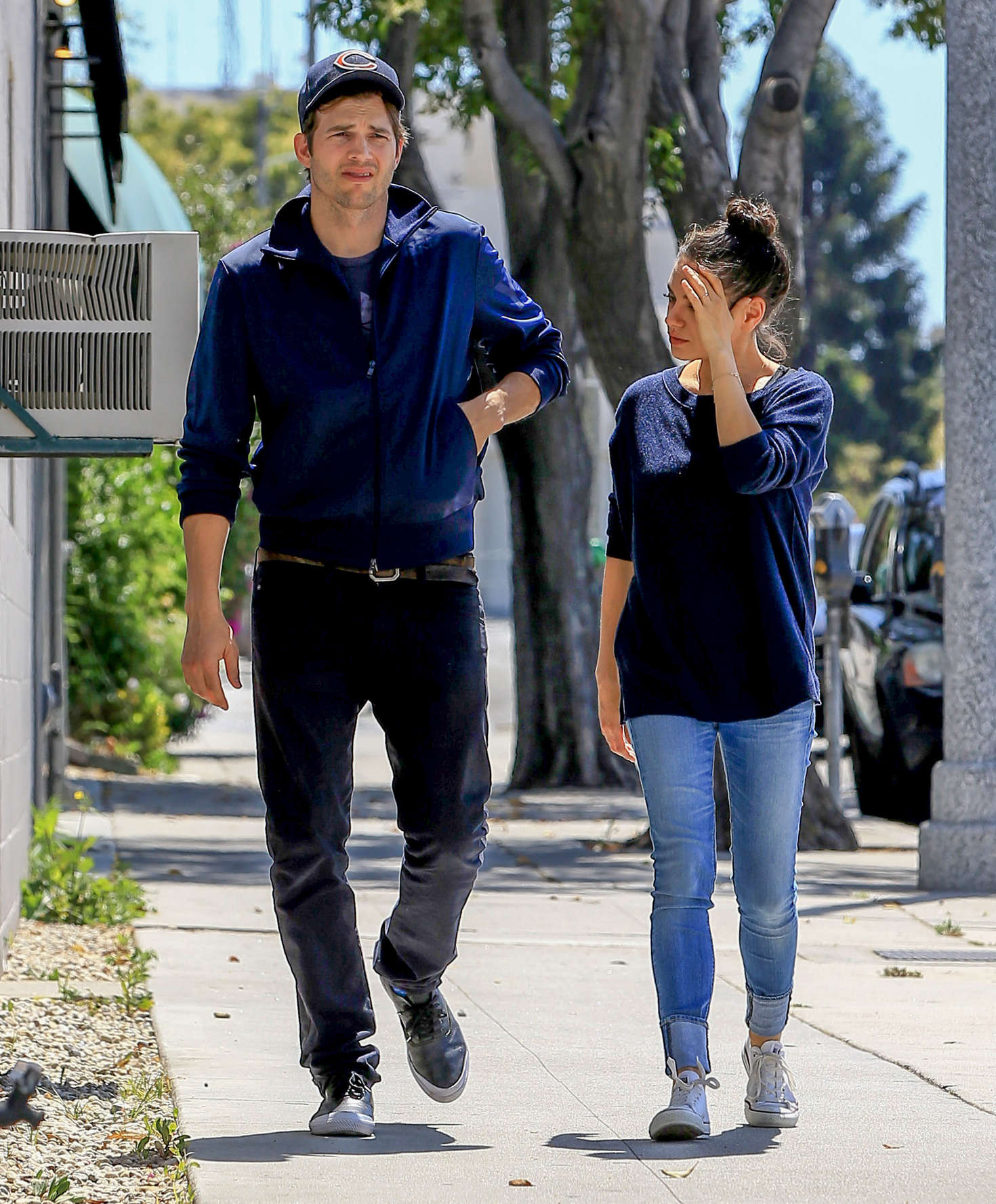Mila Kunis and Ashton Kutcher out in Beverly Hills