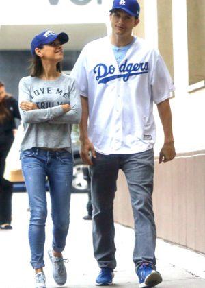 Mila Kunis and Ashton Kutcher Out in LA