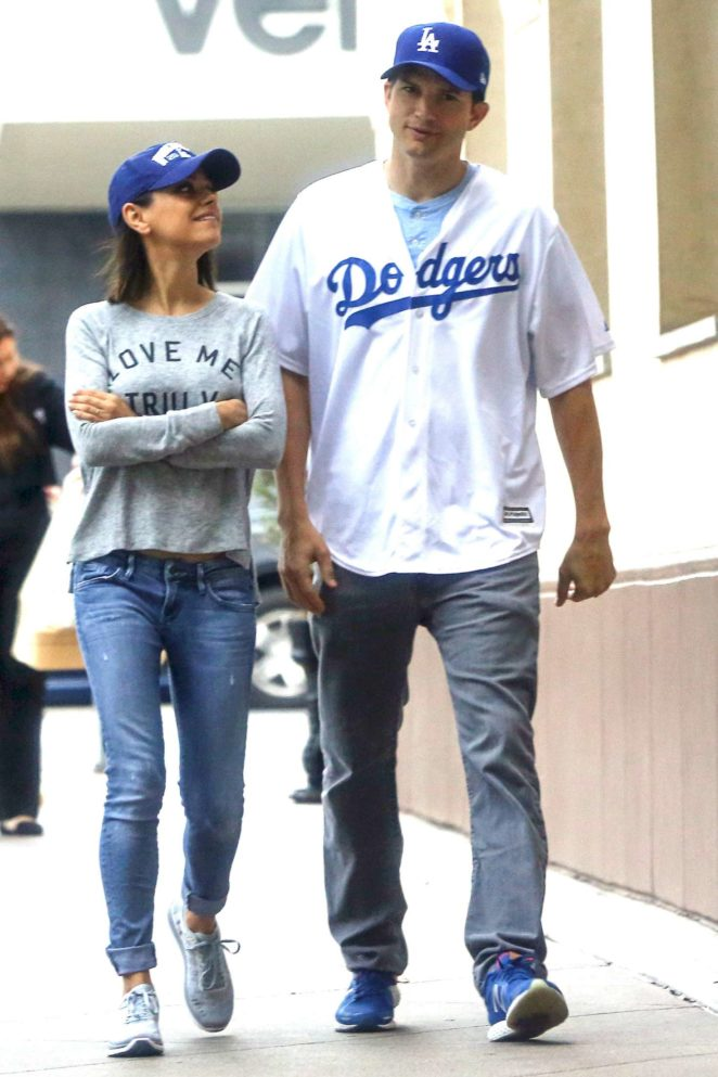 Mila Kunis and Ashton Kutcher Out in LA