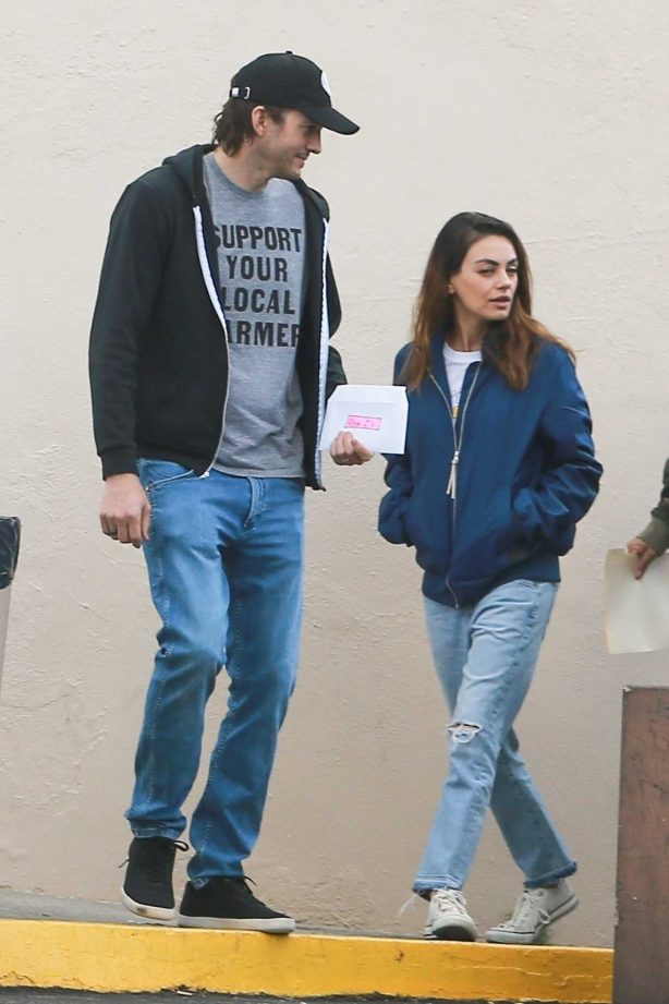 Mila Kunis and Ashton Kutcher - Out in Los Angeles