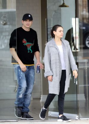 Mila Kunis and Ashton Kutcher - Shopping in LA