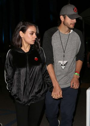 Mila Kunis And Ashton Kutchner - U2 Concert In Inglewood