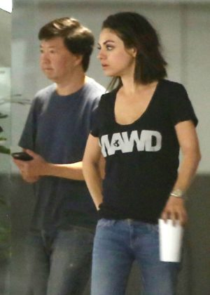 Mila Kunis and Ken Jeong out in Malibu