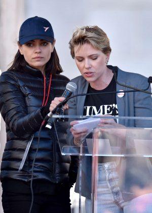 Mila Kunis and Scarlett Johansson - 2018 Women's March in Los Angeles