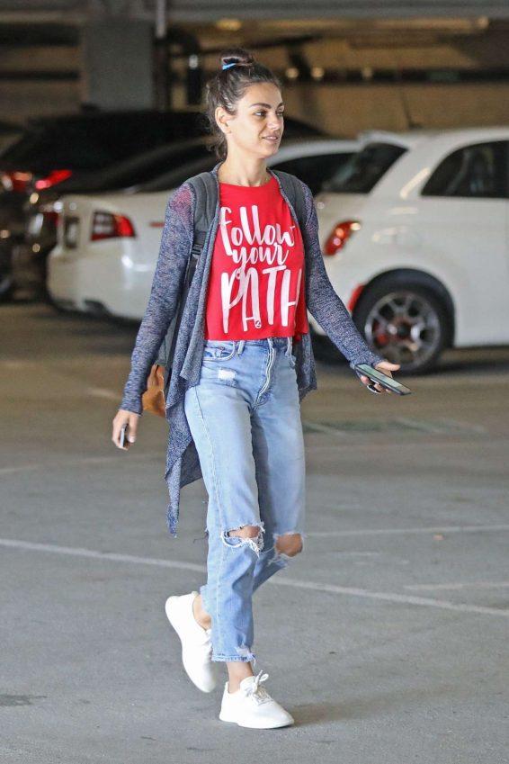 Mila Kunis 2019 : Mila Kunis – Arrives at a local nails salon in LA-01