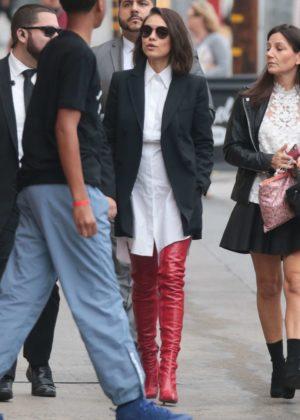 Mila Kunis - Arriving at 'Jimmy Kimmel Live' in LA