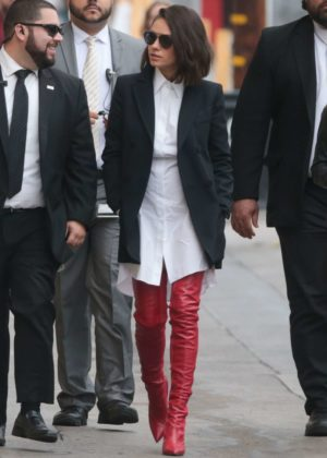 Mila Kunis - Arriving at Jimmy Kimmel Live! in LA