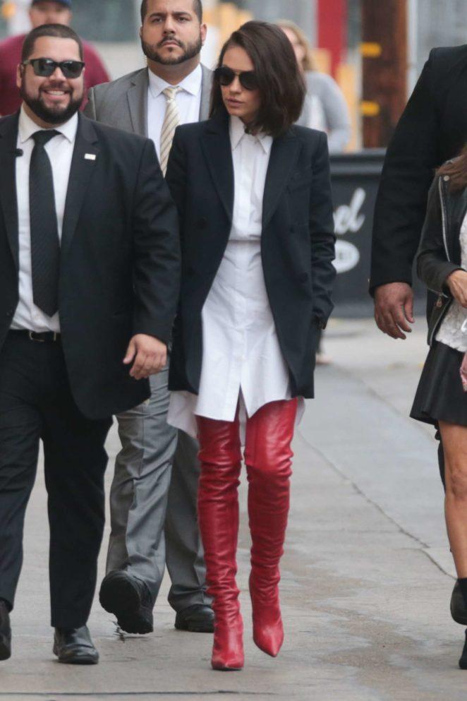 Mila Kunis: Arriving at Jimmy Kimmel Live -08