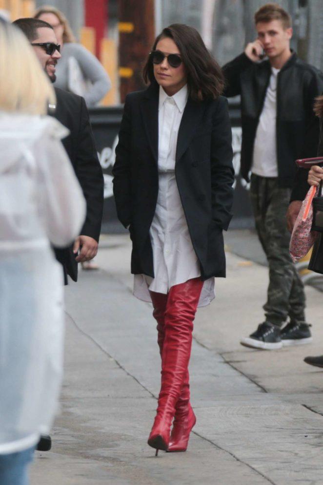 Mila Kunis: Arriving at Jimmy Kimmel Live -11