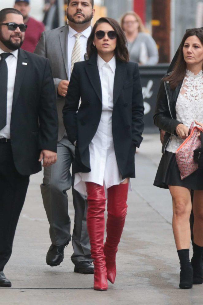 Mila Kunis: Arriving at Jimmy Kimmel Live -15