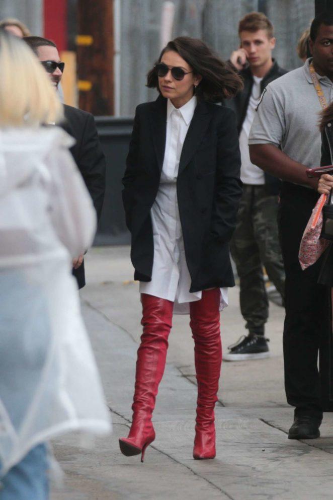 Mila Kunis: Arriving at Jimmy Kimmel Live -20