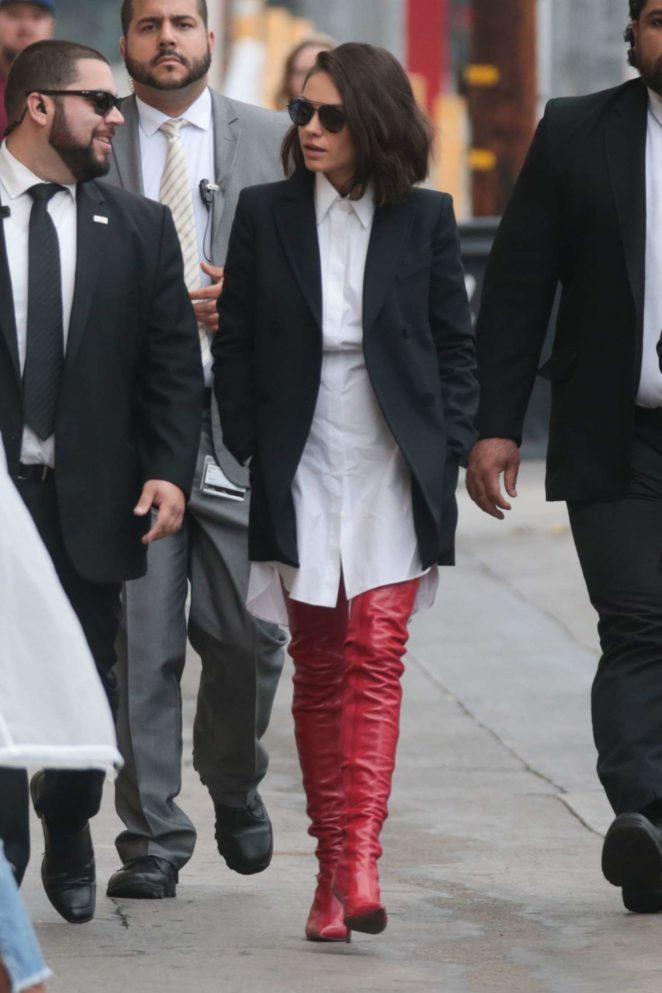 Mila Kunis: Arriving at Jimmy Kimmel Live -23