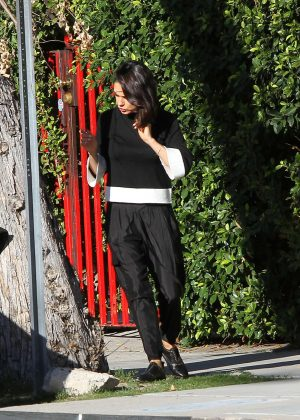 Mila Kunis at a chocolate bar out in Los Angeles