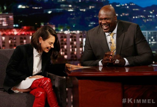 Mila Kunis at Jimmy Kimmel Live! in Los Angeles