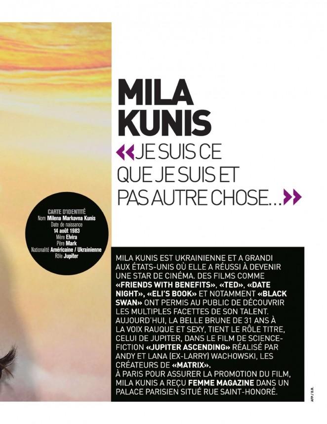 Mila Kunis: Femme Magazine 2015 -03