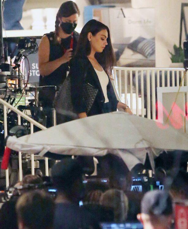 Mila Kunis - filming 'Luckiest Girl Alive' in Toronto