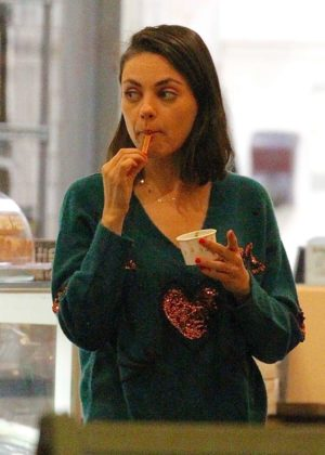 Mila Kunis - Heads out for Italian Gelato in Studio City