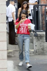 Mila Kunis - Heads out of Joan's on Third in Studio City