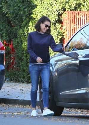 Mila Kunis - Heads out to her car in LA