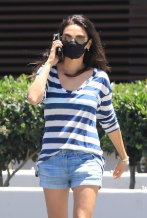 Mila Kunis - In a jean shorts out in sunny Beverly Hills