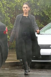 Mila Kunis in Black Outfit - Out in Los Angeles