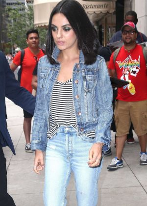 Mila Kunis in Jeans - Heads out to promote her new movie in NYC