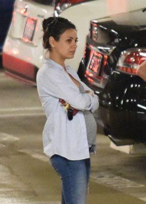 Mila Kunis in Jeans out in LA