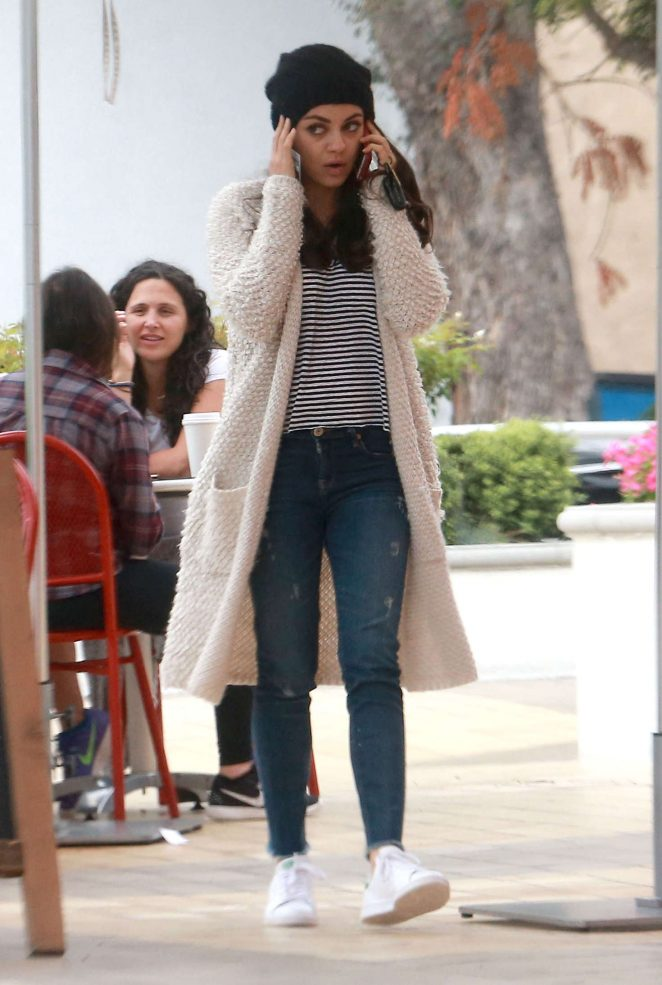 Mila Kunis in jeans out in Los Angeles