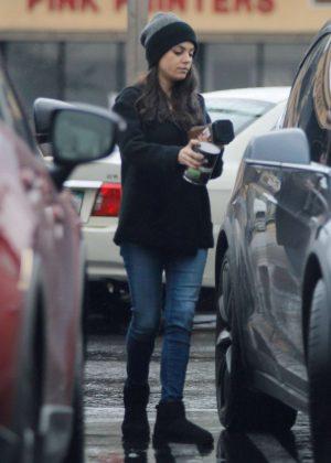 Mila Kunis in Jeans Out in Studio City