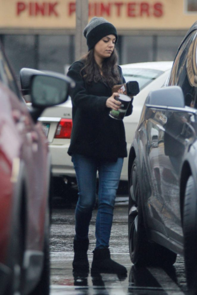 Mila Kunis in Jeans Out in Studio City