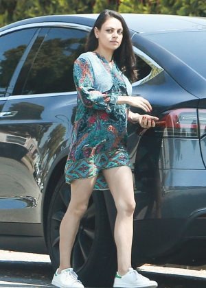 Mila Kunis in Short Dress Out in North Hollywood