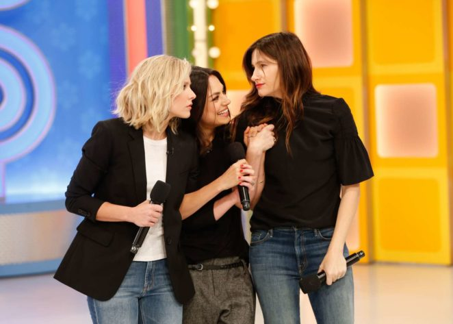 Mila Kunis Kristen Bell and Kathryn Hahn at 'The Price is Right' in LA
