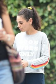 Mila Kunis - Leaves Bellacures in Studio City