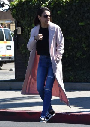 Mila Kunis - Leaving a hair salon in Los Angeles