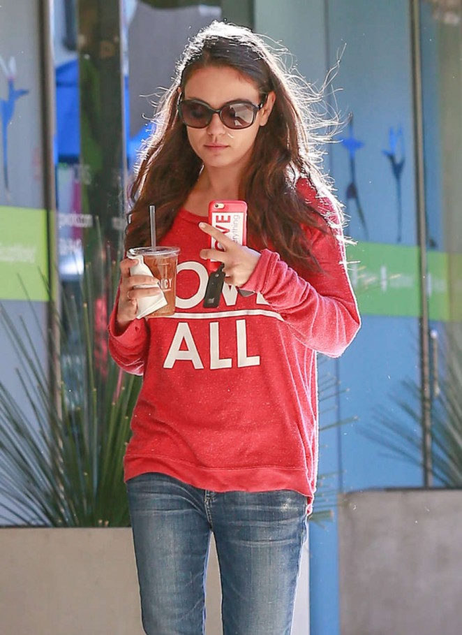 Mila Kunis - Leaving Comoncy Coffee in Beverly Hills