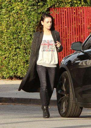 Mila Kunis - Leaving her house in Los Angeles