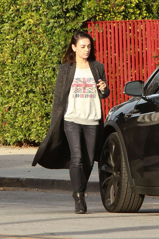 Mila Kunis – Leaving her house in Los Angeles