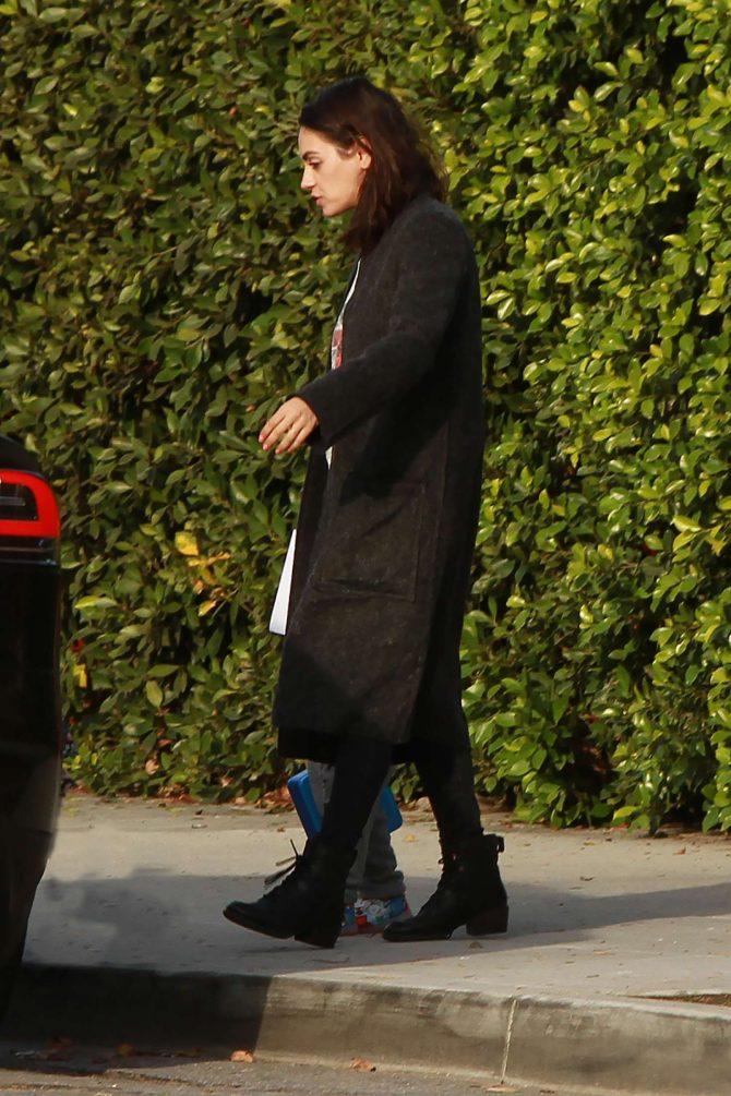 Mila Kunis: Leaving her house in Los Angeles -06