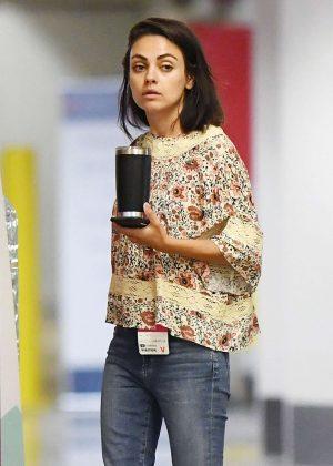 Mila Kunis - Leaving Hospital in Beverly Hills