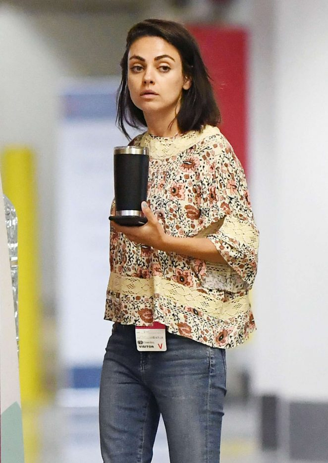Mila Kunis - Leaving Hospital in Beverly Hills