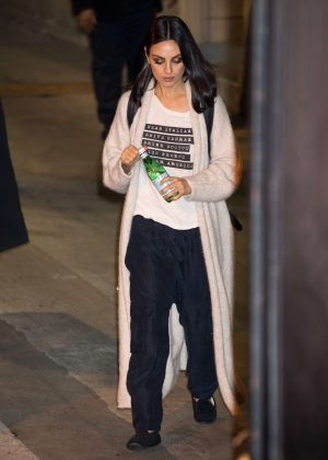 Mila Kunis - Leaving the studio in Los Angeles